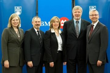 Janine Guenther (BMO), Murray Isman (UBC), Joanne Gassman (BMO), Jim Thompson (UBC), Stephen Toope (UBC)