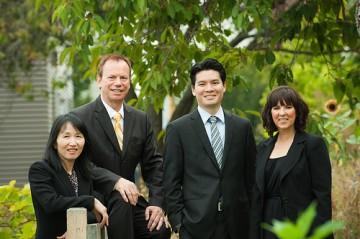 (l to r) Sabrina Yan, Larry Sproul, Jeffrey Hsu, Niki Glenning
