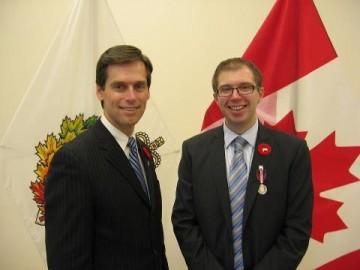 Hon. Russ Hiebert and LFS Alumnus Erik Hilmer